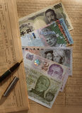 Obcych walut notatki Zdjęcia Royalty Free
