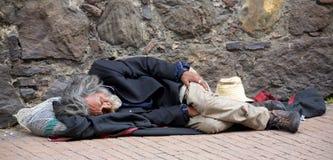Obdachloser in Bogota Lizenzfreie Stockfotografie