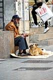 Obdachloser in Huelva Stockbilder