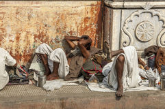 Obdachloser in Indien stockfotos