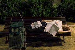 Obdachloser junger Mann - 04 Stockfoto