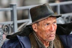 Obdachloser Mann stockbild