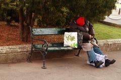 Obdachloser Mann Lizenzfreies Stockfoto
