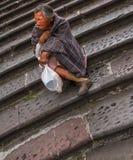 Obdachloser in Quito Stockfotografie