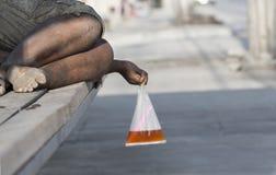 Obdachloser Schlafen Stockfotografie