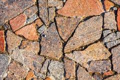 Obdarty Łamający bruku granitu nakrycie zdjęcia royalty free