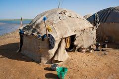 obdrapana Beduin wioska Obraz Stock