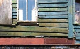 Obdrapana drewniana ściana Zdjęcia Royalty Free