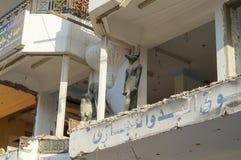 Obdrapany buduje Egipt Fotografia Royalty Free
