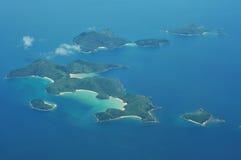 obebodda öar Arkivfoto