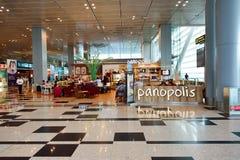 Obecnie lotnisko trzy operacyjnego terminalu Fotografia Royalty Free