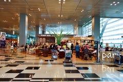 Obecnie lotnisko trzy operacyjnego terminalu Obrazy Royalty Free