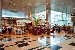 Obecnie lotnisko trzy operacyjnego terminalu Obrazy Stock