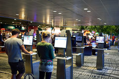 Obecnie lotnisko trzy operacyjnego terminalu Obraz Stock