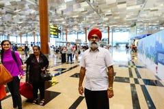 Obecnie lotnisko trzy operacyjnego terminalu Zdjęcie Stock