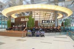 Obecnie lotnisko trzy operacyjnego terminalu Zdjęcia Stock