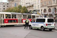 Obecność policji w Praga zdjęcie stock