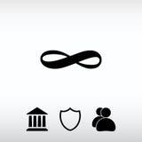 Obegränsad symbolsymbol, vektorillustration Sänka designstil Royaltyfria Foton