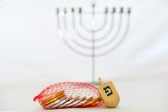 Obejects aislado para Hanukkah Foto de archivo