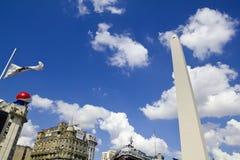 Obelisco。 布宜诺斯艾利斯,阿根廷 免版税库存图片
