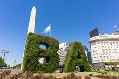 Obelisco,方尖碑,布宜诺斯艾利斯Argentinien 库存照片