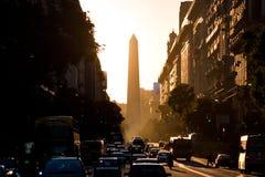 Obelisco (обелиск), Буэнос-Айрес Аргентина Стоковые Изображения