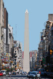 Obelisco Avenida 9 de Julio. BUENOS AREAS ARGENTINA NOVEMBER 29:Obelisco Avenida 9 de Julio is a wide avenue in the city of Buenos Aires, Argentina. Its name royalty free stock image