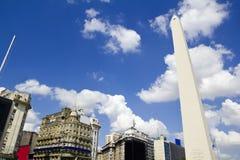 Obelisco. Buenos Aires Argentina Arkivfoton