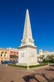 Obelisco cuadrado llevado DES de Placa foto de archivo libre de regalías