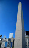Obelisco de Buenos Aires. In the center of Buenos Aires, Argentina, stands this obelisk, an historic monument commemorating the 400 year anniversary of the city stock photo