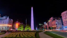 Obelisco de Buenos Aires Imagem de Stock Royalty Free