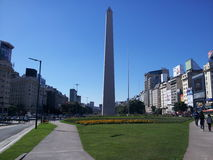 Obelisco de buenos aires argentina. Obelisk downtown buenos aires argentina Stock Photo