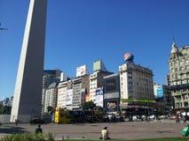 Obelisco de buenos aires argentina royalty free stock photo
