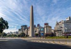 Obelisco de Buenos Aires em Plaza de la Republica - Buenos Aires, Argentina Fotografia de Stock