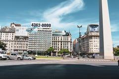 Obelisco de Buenos Aires en la Argentina imagen de archivo libre de regalías