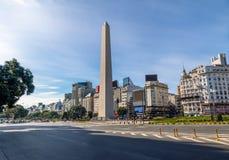 Obelisco de Buenos Aires en Plaza de la Republica - Buenos Aires, la Argentina fotografía de archivo