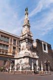 Obelisco de Immacolata do ` do dell de Guglia em Nápoles Fotos de Stock