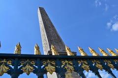 Obelisco de Place de La Concorde Imagenes de archivo