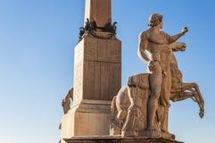 Obelisco de Quirinal imagen de archivo