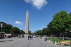 Obelisco de Theodosian de Egito, no Hippodrom de Constantinople em Istambul, Turquia imagens de stock royalty free