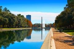 Obelisco del monumento del pionero del parque de Houston Hermann foto de archivo libre de regalías