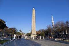 Obelisco del obelisco de Theodosius Egyptian Imagen de archivo libre de regalías