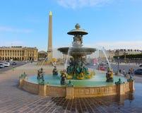 Obelisco di Louxor al piazza de la Concorde a Parigi fotografia stock libera da diritti