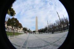 obelisco do Peixe-olho no quadrado de Sultanahmet, Istambul, Turquia foto de stock royalty free