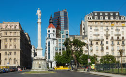 Obelisco e avenida 9 de Julio Imagens de Stock