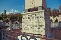 Obelisco egípcio em Sultanahmet, Istambul, Turquia imagem de stock