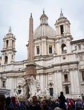 Obelisco egiziano del navona della piazza a Roma immagini stock libere da diritti