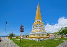 Obelisco en Alto da Memoria, Angra, Terceira, Azores fotos de archivo libres de regalías