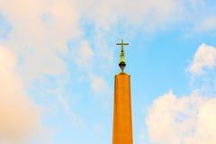 Obelisco en el santo Peter Square en Roma, Italia Imagen de archivo libre de regalías