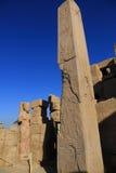 Obelisco en el templo de Karnak Fotografía de archivo libre de regalías